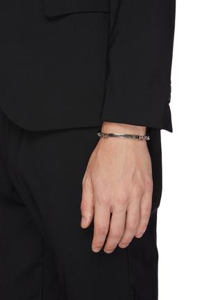 Figure View - Click To Enlarge - ALEXANDER MCQUEEN - Skull chain bracelet