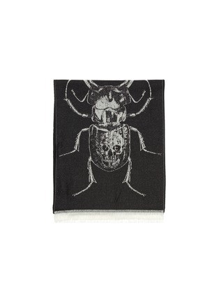Detail View - Click To Enlarge - ALEXANDER MCQUEEN - Scarab wool scarf