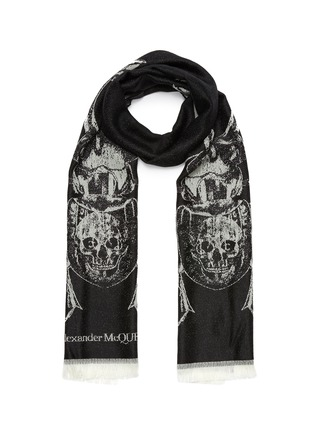 Main View - Click To Enlarge - ALEXANDER MCQUEEN - Scarab wool scarf