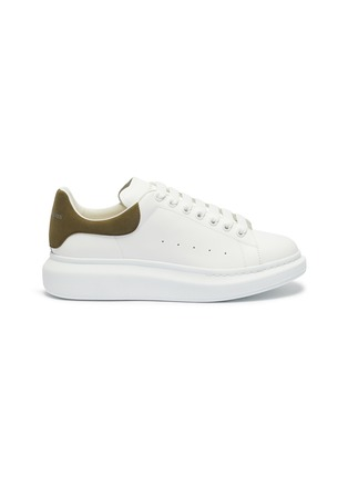Main View - Click To Enlarge - ALEXANDER MCQUEEN - 'Oversized Sneaker' in leather with suede collar