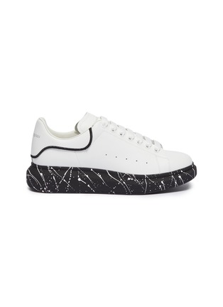 Main View - Click To Enlarge - ALEXANDER MCQUEEN - 'Oversized Sneaker' in leather with paint splat outsole