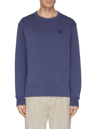 Main View - Click To Enlarge - ACNE STUDIOS - 'Fairview Face' patch sweatshirt