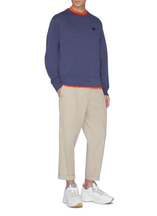 Figure View - Click To Enlarge - ACNE STUDIOS - 'Fairview Face' patch sweatshirt