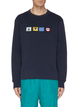 Main View - Click To Enlarge - ACNE STUDIOS - Animal face patch sweatshirt