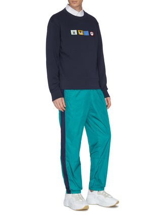 Figure View - Click To Enlarge - ACNE STUDIOS - Face patch stripe outseam track pants