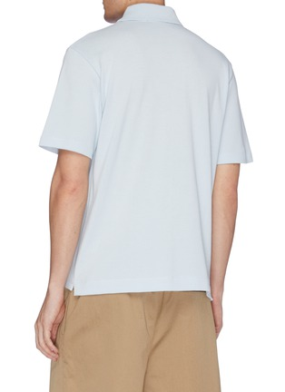 Back View - Click To Enlarge - ACNE STUDIOS - Face patch polo shirt