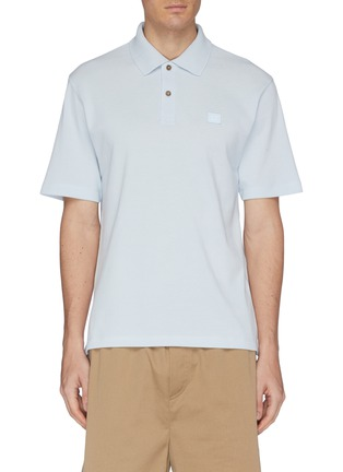 Main View - Click To Enlarge - ACNE STUDIOS - Face patch polo shirt