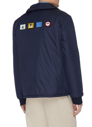 Back View - Click To Enlarge - ACNE STUDIOS - Animal face patch colourblock jacket