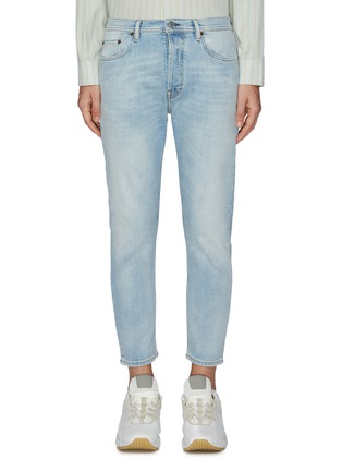 Main View - Click To Enlarge - ACNE STUDIOS - 'River' cropped slim fit jeans