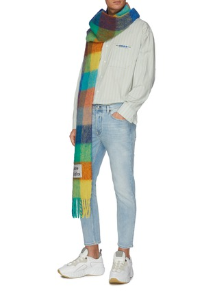 Figure View - Click To Enlarge - ACNE STUDIOS - 'River' cropped slim fit jeans