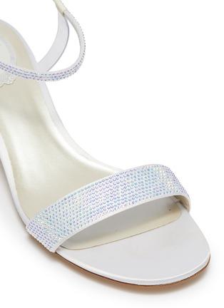 Detail View - Click To Enlarge - RENÉ CAOVILLA - 'Elastica 40' ankle strap PVC strass satin sandals