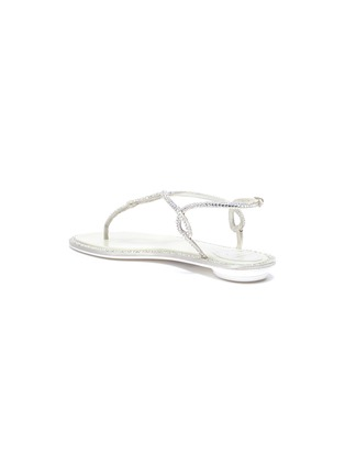 - RENÉ CAOVILLA - Strass satin thong sandals