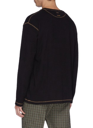 Back View - Click To Enlarge - ACNE STUDIOS - 'Erland' graphic appliqué ribbed long sleeve T-shirt