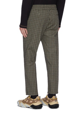 Back View - Click To Enlarge - ACNE STUDIOS - Check plaid wool blend jogging pants
