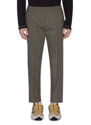 Main View - Click To Enlarge - ACNE STUDIOS - Check plaid wool blend jogging pants
