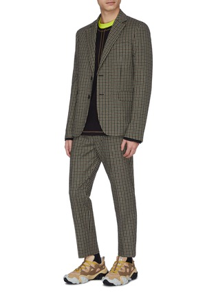 Figure View - Click To Enlarge - ACNE STUDIOS - Check plaid wool blend jogging pants