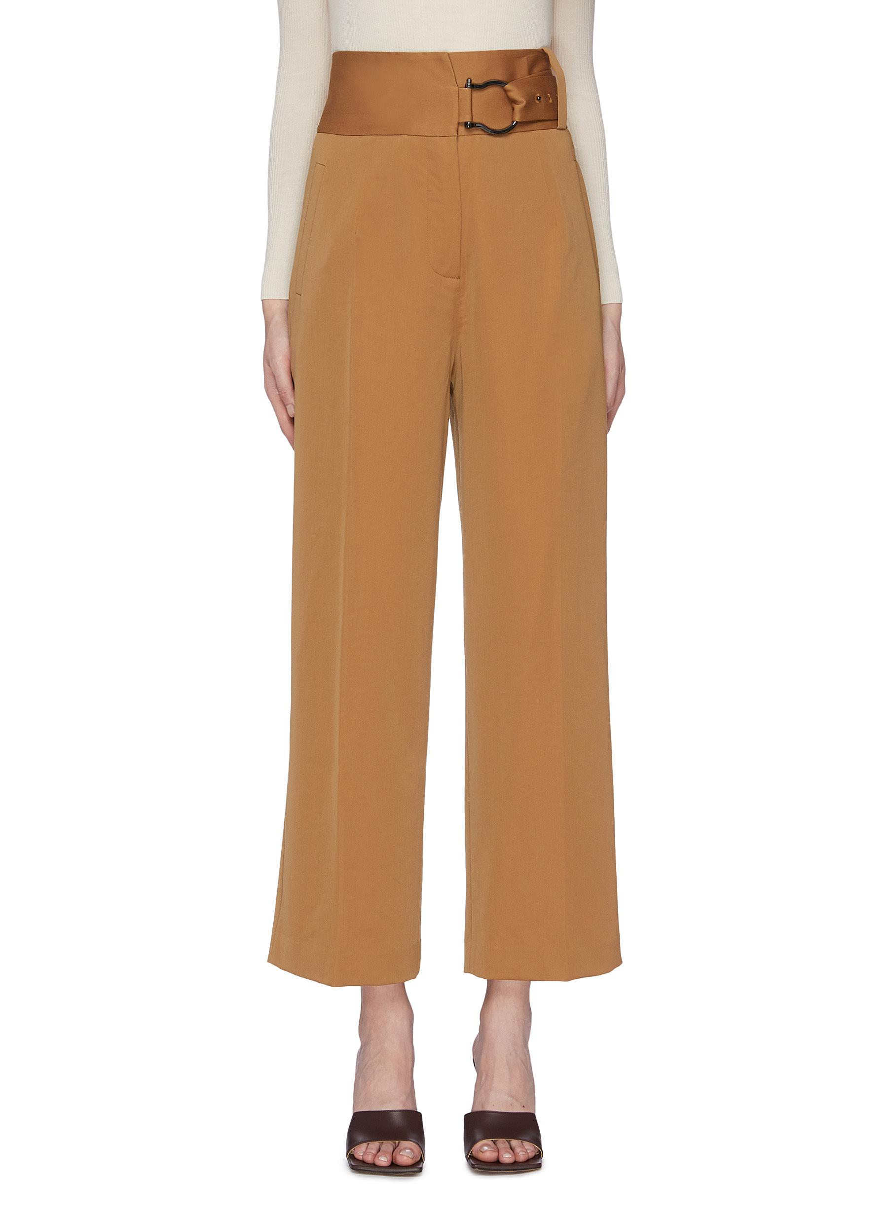 Belted wide leg pants by Equil