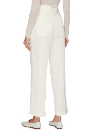 Back View - Click To Enlarge - EQUIL - Belted wide leg pants