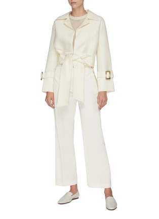 Figure View - Click To Enlarge - EQUIL - Belted wide leg pants
