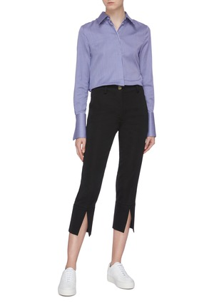 Figure View - Click To Enlarge - EQUIL - Split cuff cropped pants