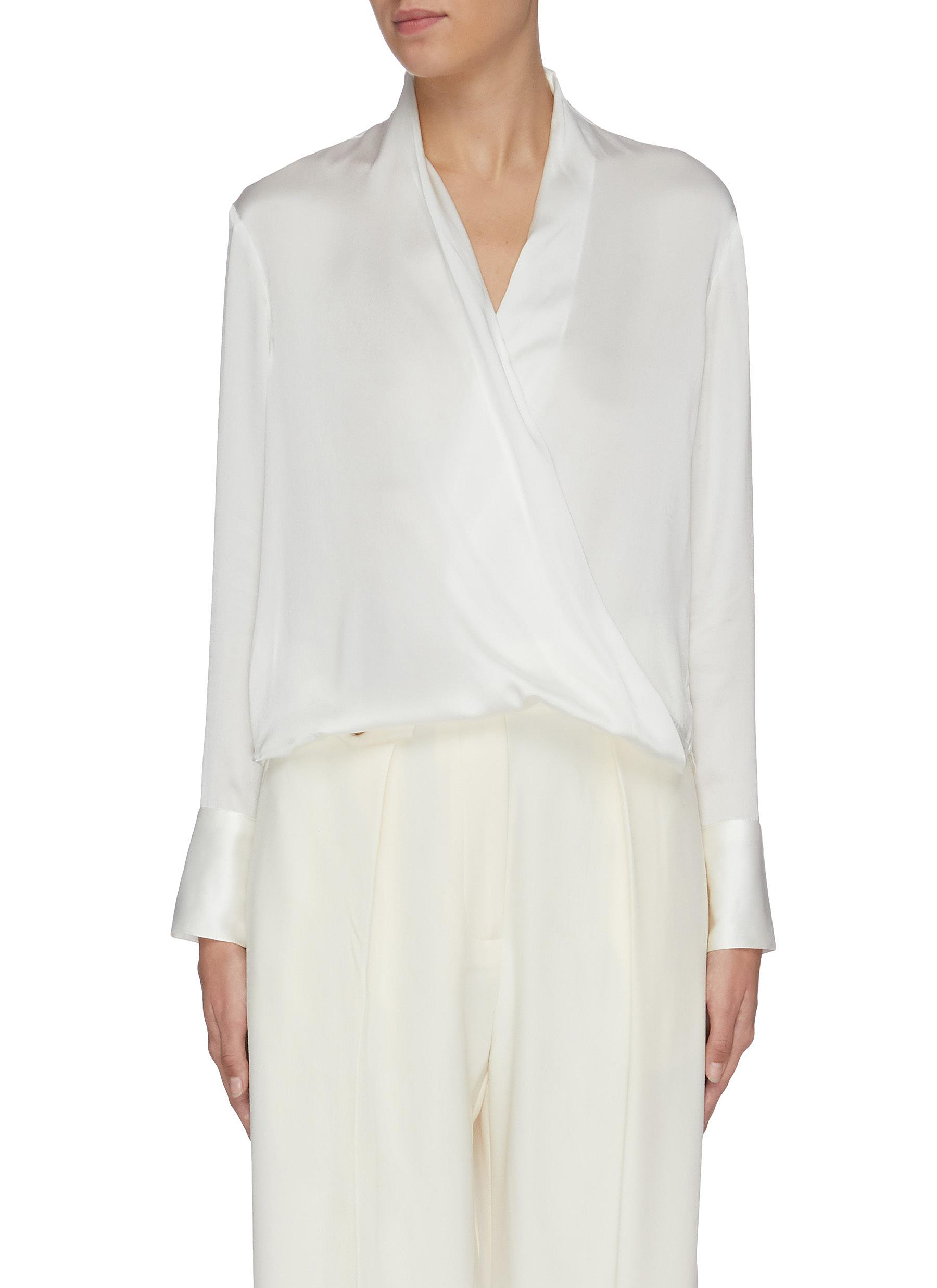 Mock wrap top by Equil
