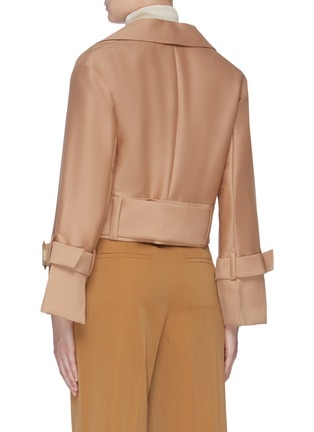 Back View - Click To Enlarge - EQUIL - Belted cropped jacket