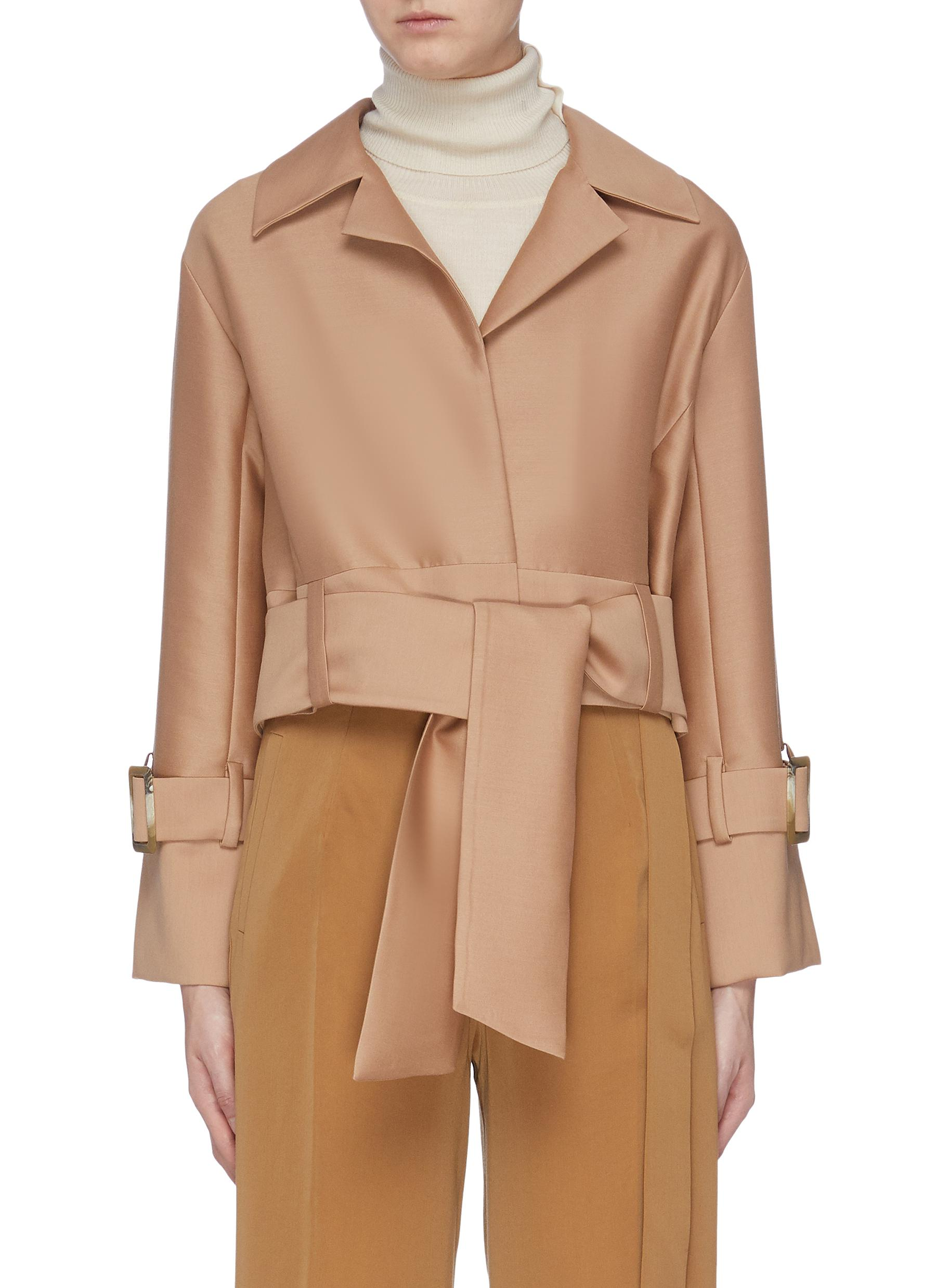 Belted cropped jacket by Equil