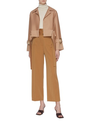 Figure View - Click To Enlarge - EQUIL - Belted cropped jacket