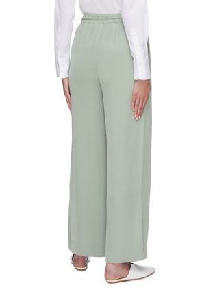 Back View - Click To Enlarge - EQUIL - Silk drawstring wide leg pants