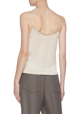 Back View - Click To Enlarge - EQUIL - Lace trim silk camisole top