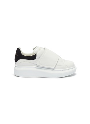 Main View - Click To Enlarge - ALEXANDER MCQUEEN - 'Kids Oversized Sneaker' in leather with suede collar