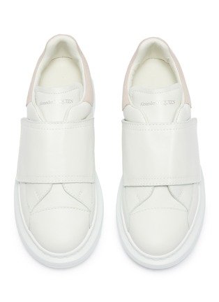 Figure View - Click To Enlarge - ALEXANDER MCQUEEN - 'Kids Oversized Sneaker' in leather with suede collar