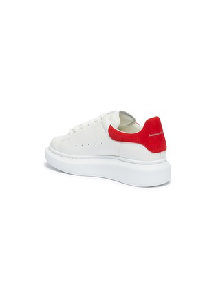 Detail View - Click To Enlarge - ALEXANDER MCQUEEN - 'Kids Oversized Sneaker' in leather with suede collar