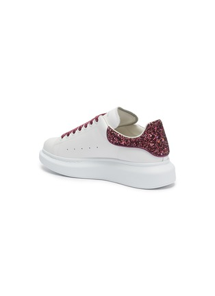 - ALEXANDER MCQUEEN - 'Oversized Sneaker' in leather with coarse glitter collar