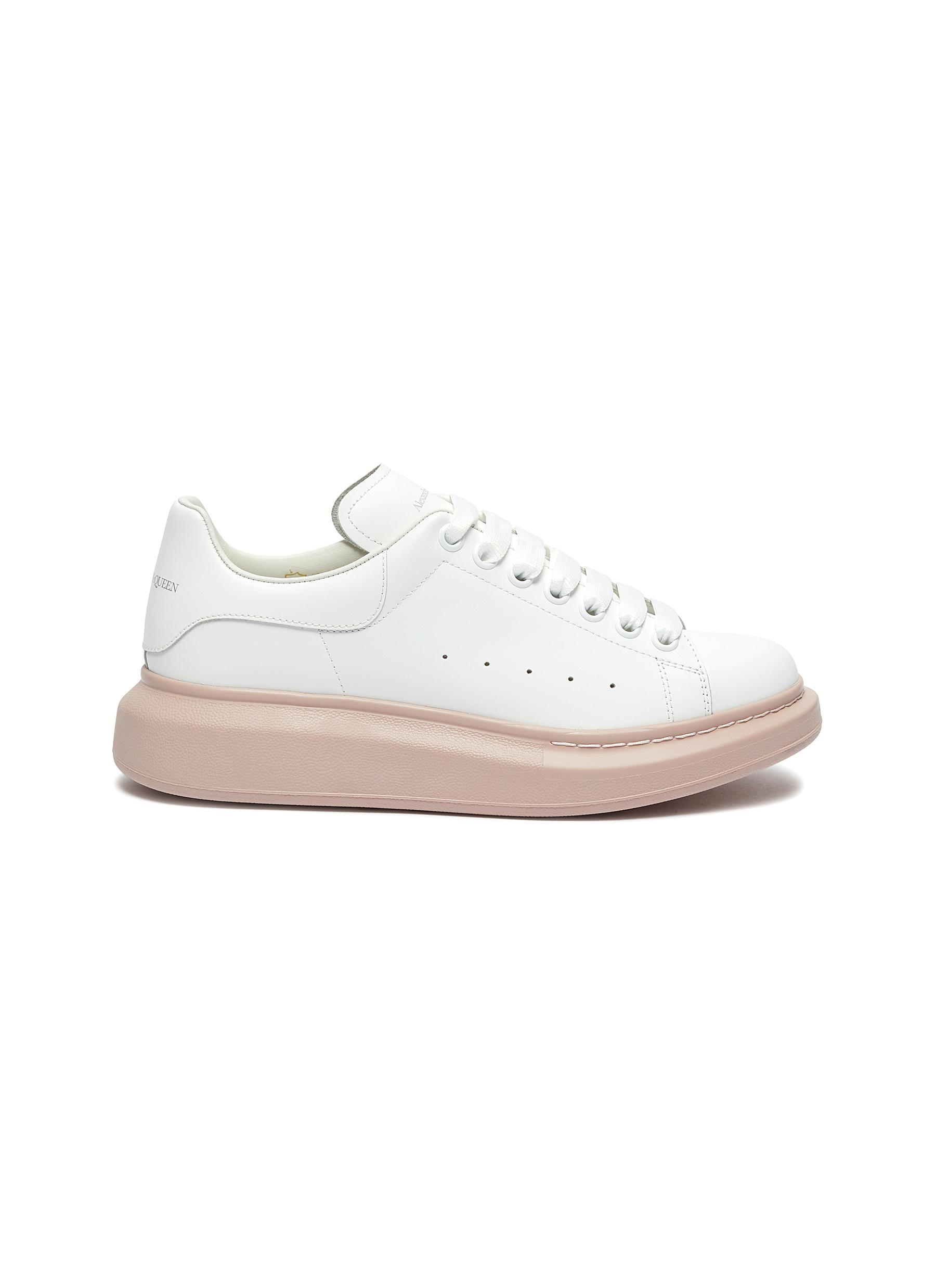 Oversized Sneaker in leather with contrast outsole by Alexander Mcqueen