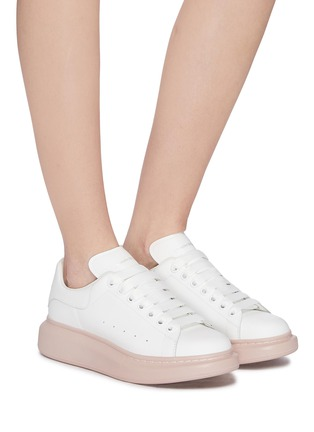 Figure View - Click To Enlarge - ALEXANDER MCQUEEN - 'Oversized Sneaker' in leather with contrast outsole