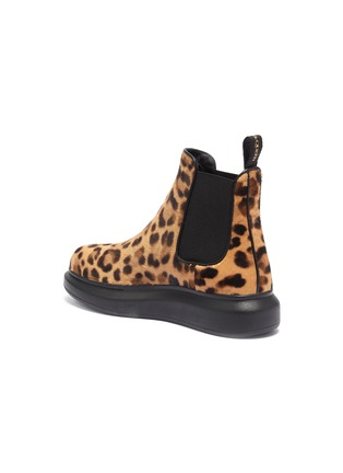- ALEXANDER MCQUEEN - Chunky outsole leopard print pony hair Chelsea boots