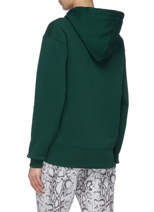 Back View - Click To Enlarge - ACNE STUDIOS - Face patch zip hoodie