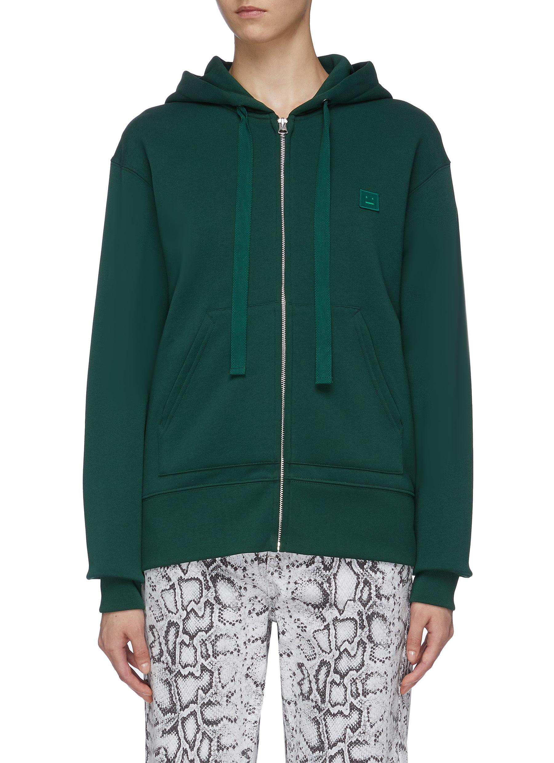 Face patch zip hoodie by Acne Studios