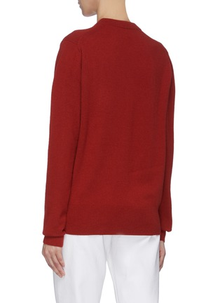 Back View - Click To Enlarge - ACNE STUDIOS - Face patch wool sweater