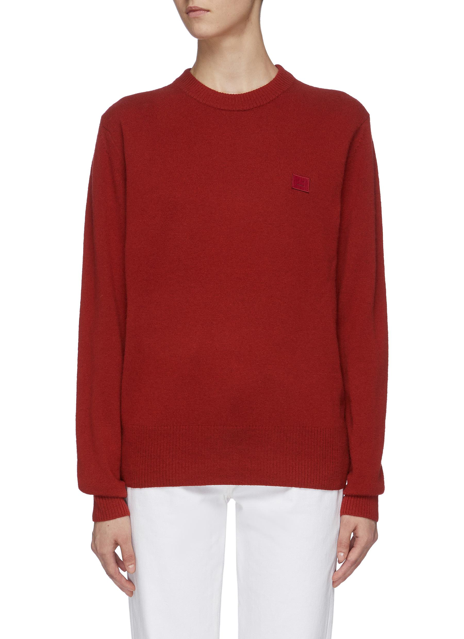 Face patch wool sweater by Acne Studios