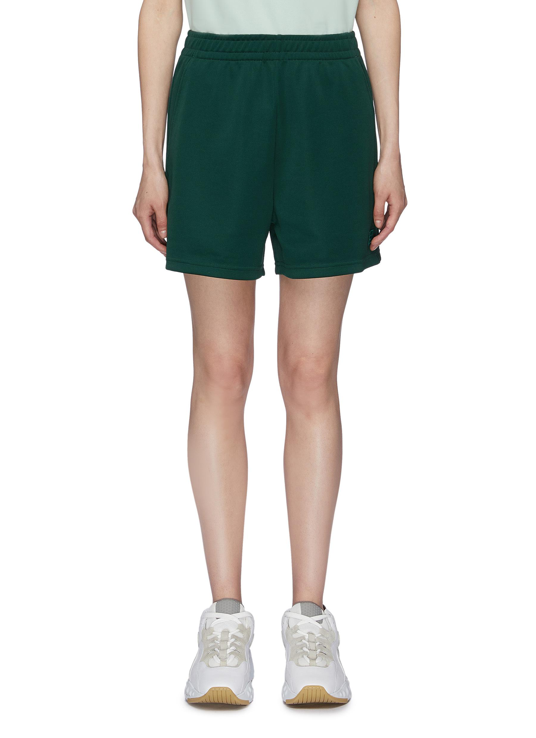 Face patch sweat shorts by Acne Studios