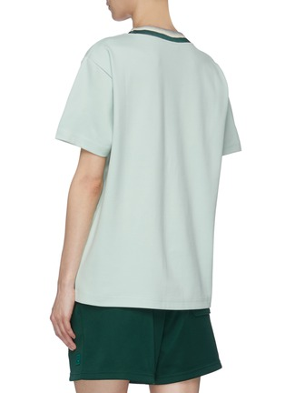 Back View - Click To Enlarge - ACNE STUDIOS - Face patch tie-dye effect rib collar T-shirt