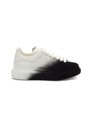Main View - Click To Enlarge - ALEXANDER MCQUEEN - 'Oversized Sneaker' in flocked leather