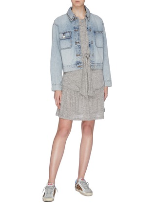 Figure View - Click To Enlarge - CURRENT/ELLIOTT - 'The Sammy' studded denim jacket