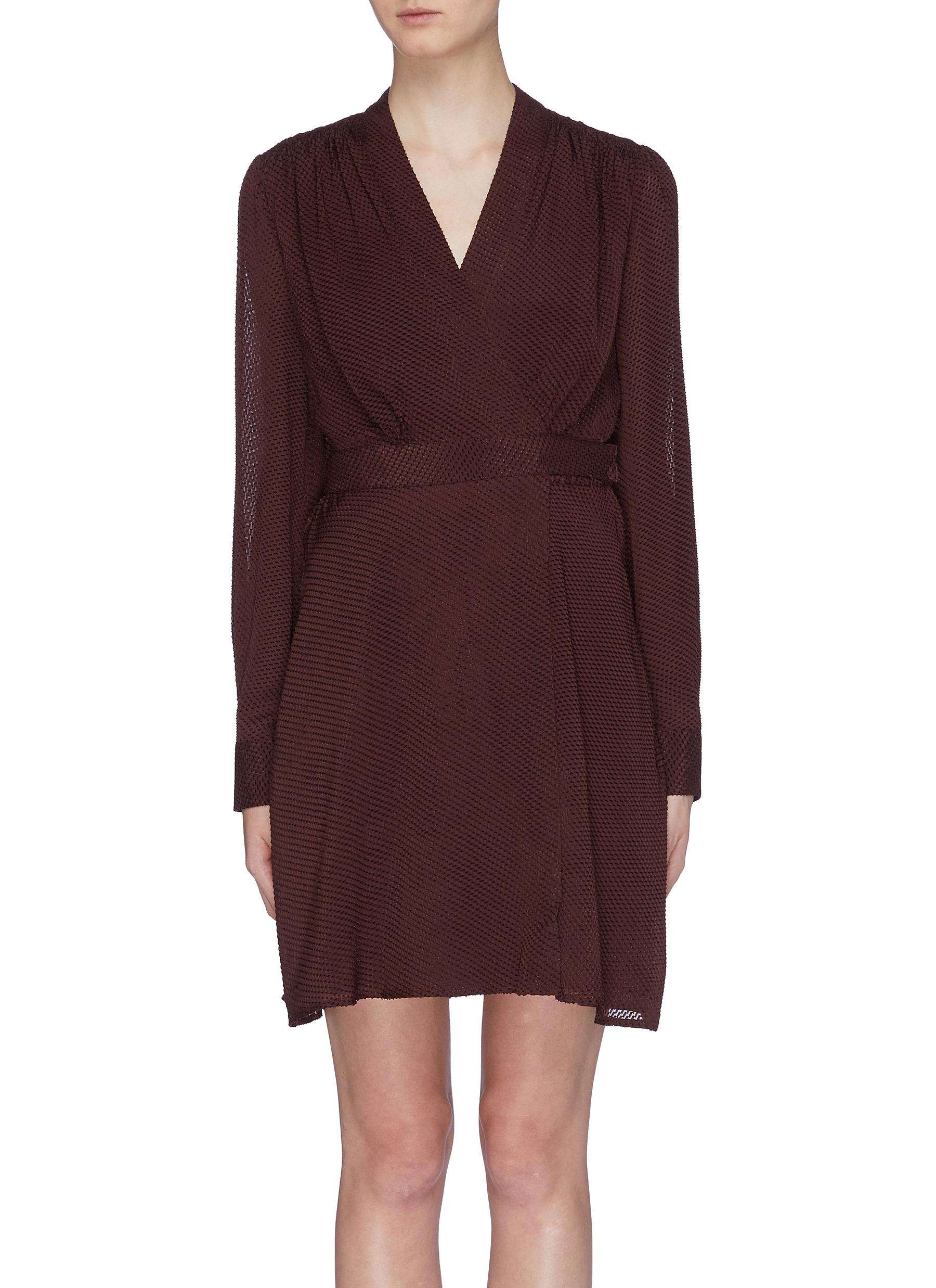 Allaire belted silk blend wrap dress by Equipment
