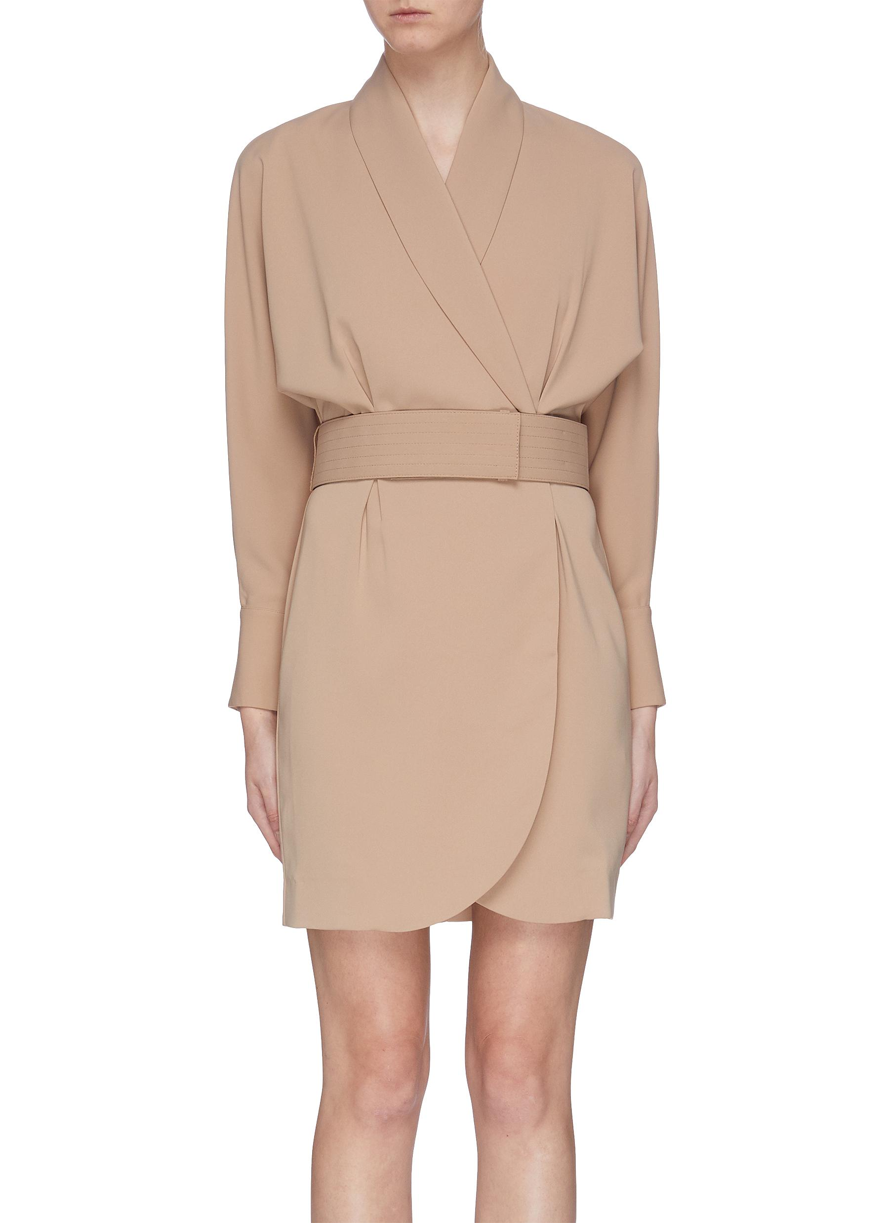 Corben belted crepe wrap dress by Equipment