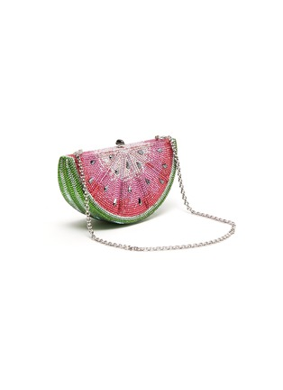 Detail View - Click To Enlarge - JUDITH LEIBER - 'Watermelon Slice' crystal pavé minaudière
