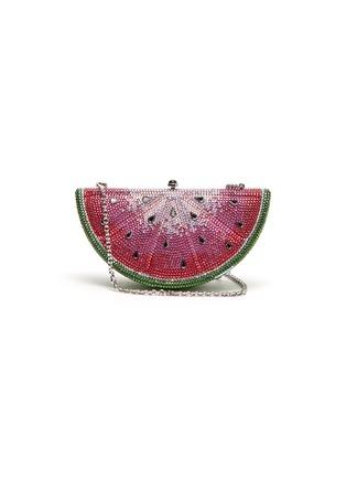 Main View - Click To Enlarge - JUDITH LEIBER - 'Watermelon Slice' crystal pavé minaudière