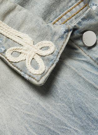 - AMIRI - Knot embroidered denim trucker jacket